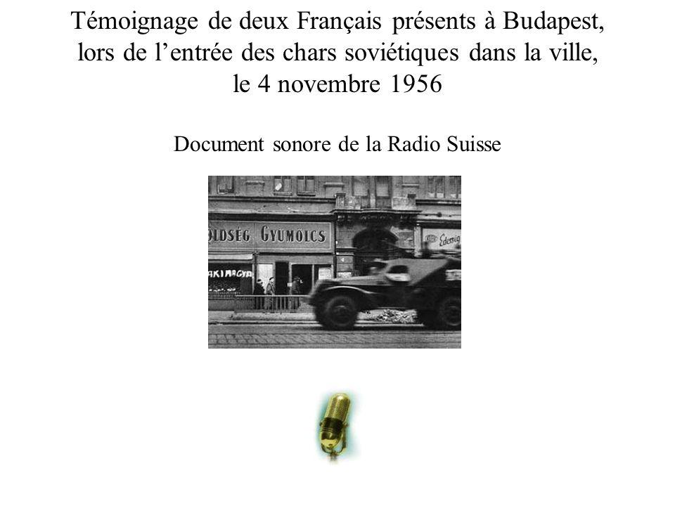 Témoignage de deux Français présents à Budapest,