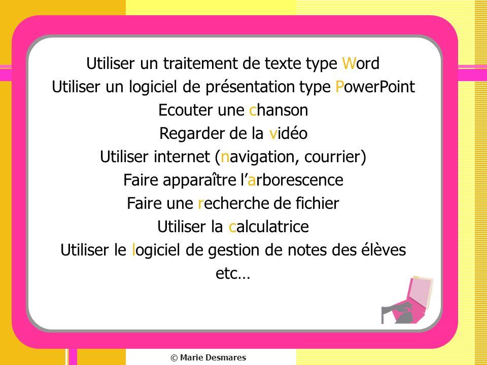 Utiliser un traitement de texte type Word