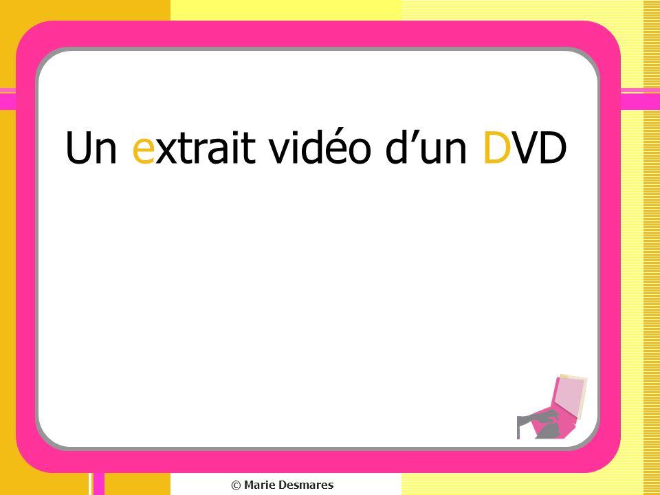 Un extrait vidéo d'un DVD