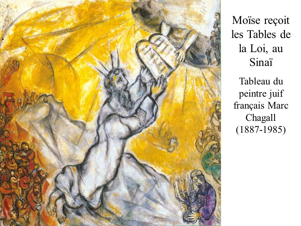 Moïse reçoit les Tables de la Loi, au Sinaï