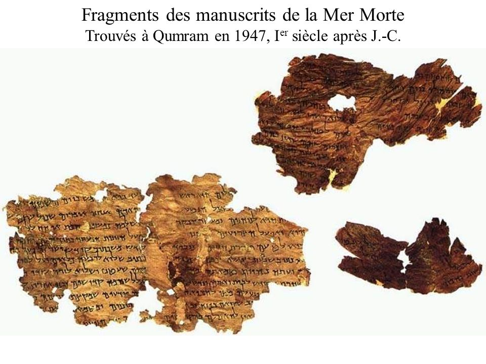 Fragments des manuscrits de la Mer Morte