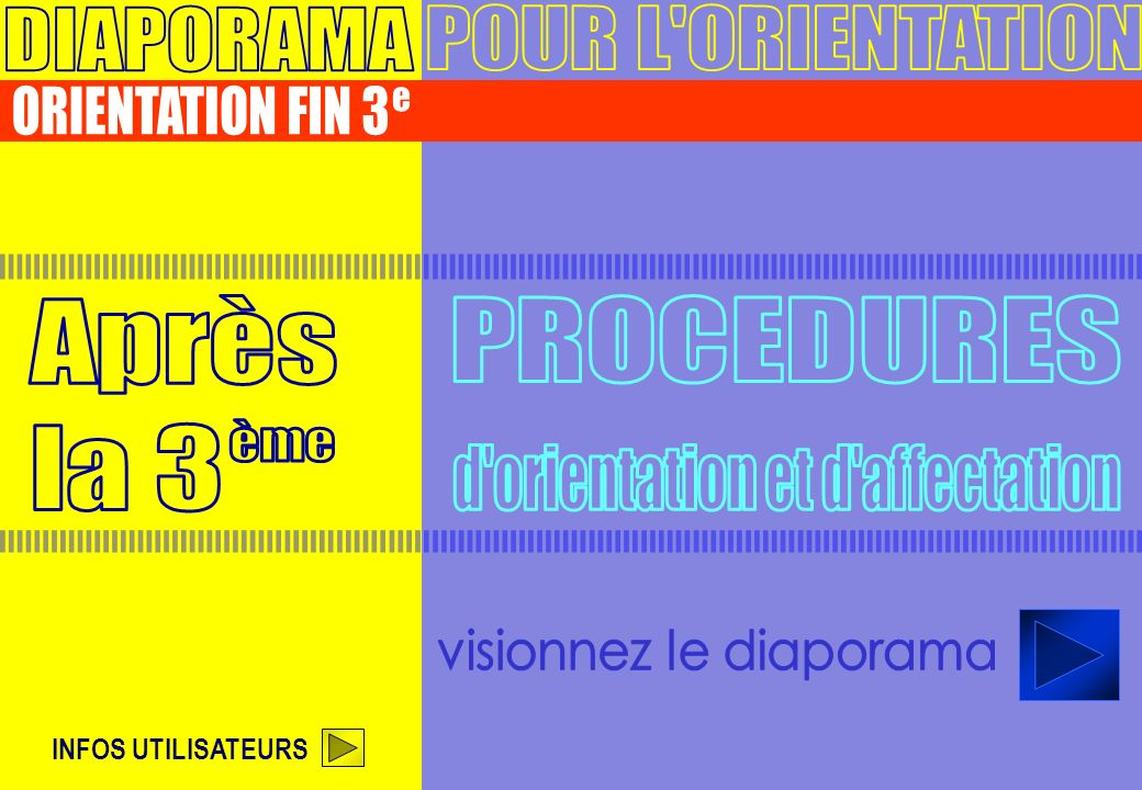 d orientation et d affectation