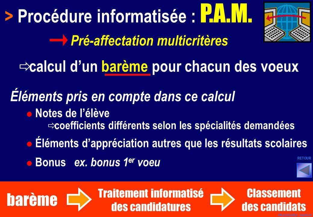 > Procédure informatisée : P.A.M.