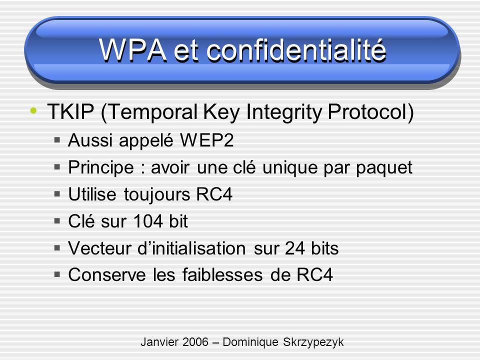 WPA et confidentialité