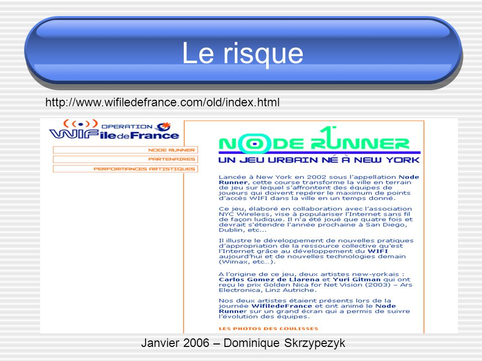 Janvier 2006 – Dominique Skrzypezyk