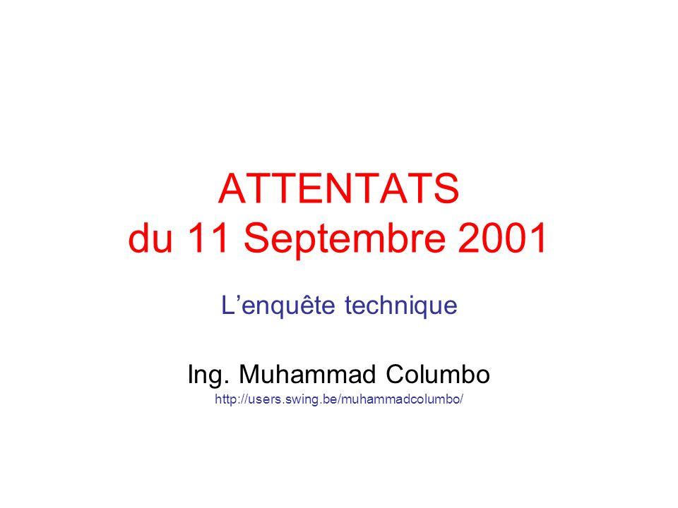 ATTENTATS du 11 Septembre 2001
