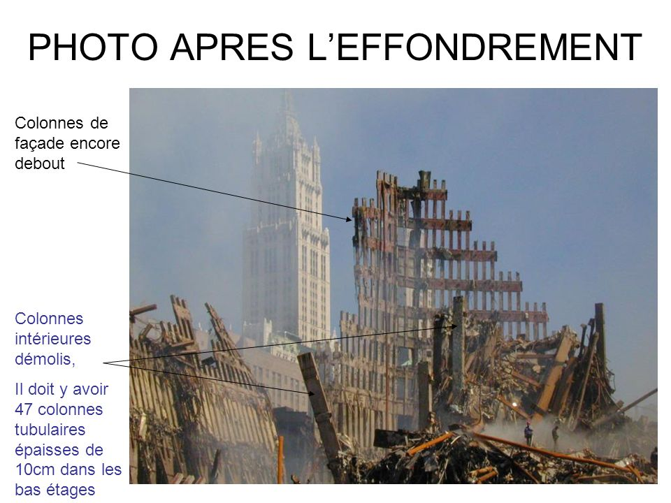 PHOTO APRES L'EFFONDREMENT