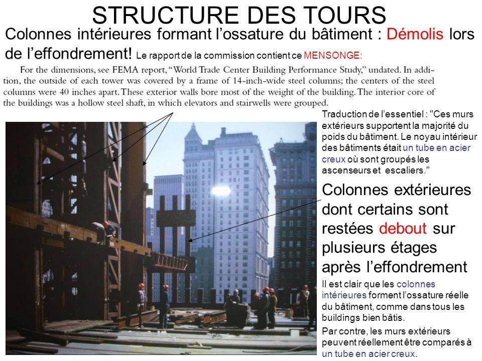 STRUCTURE DES TOURS