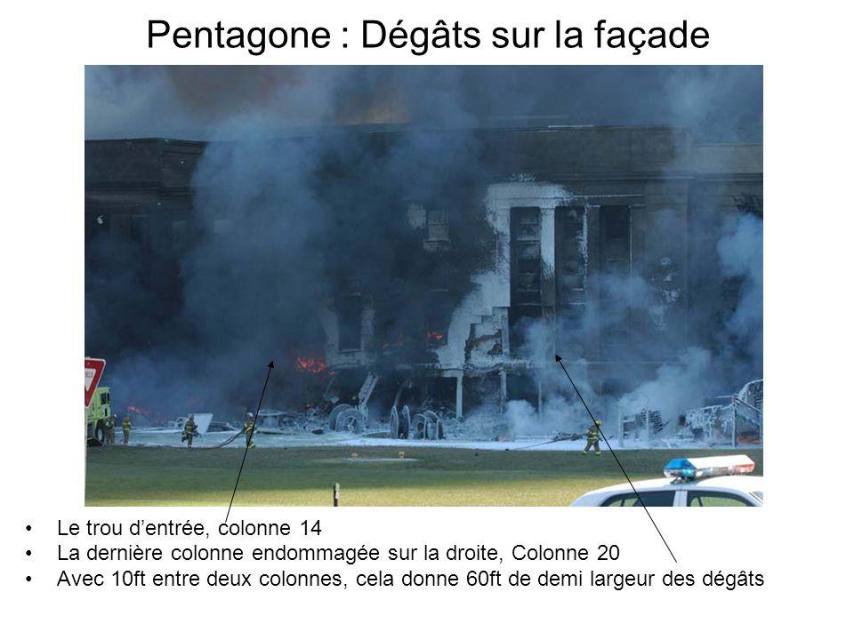 Pentagone : Dégâts sur la façade