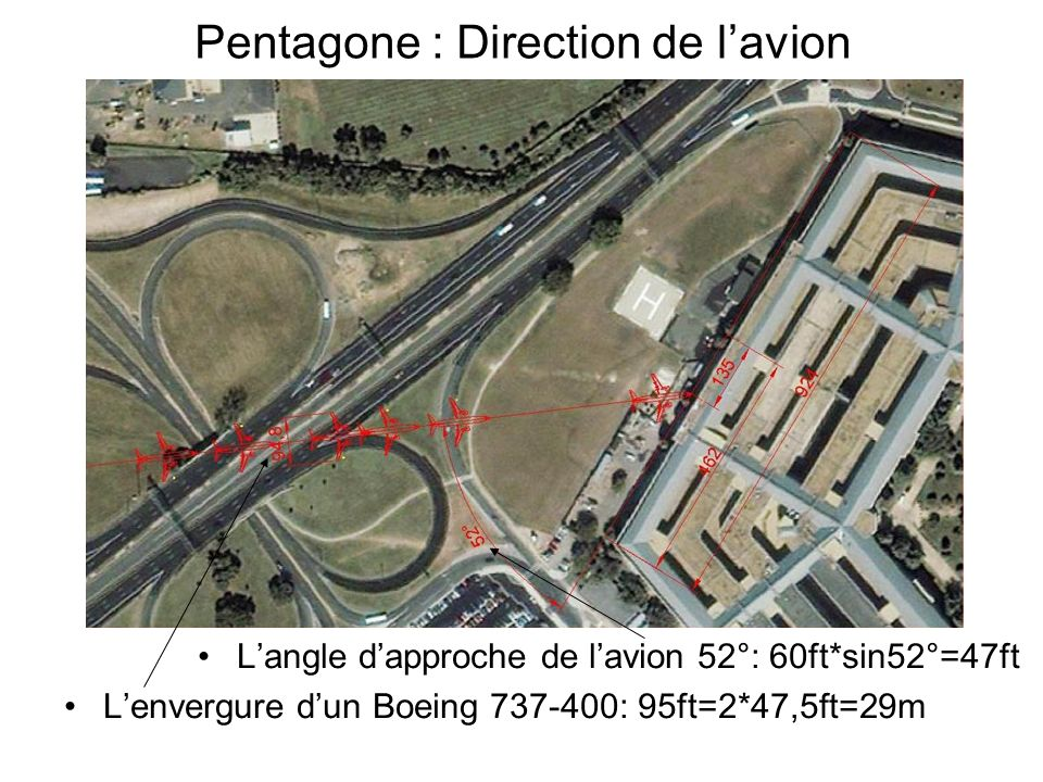 Pentagone : Direction de l'avion
