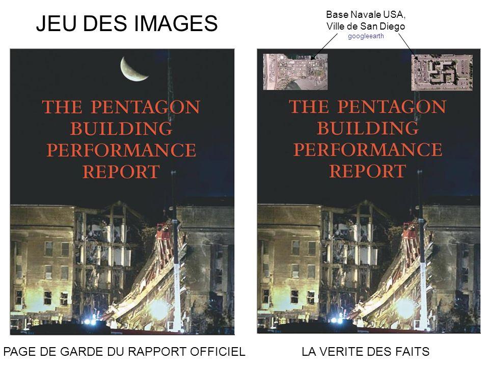 JEU DES IMAGES PAGE DE GARDE DU RAPPORT OFFICIEL LA VERITE DES FAITS