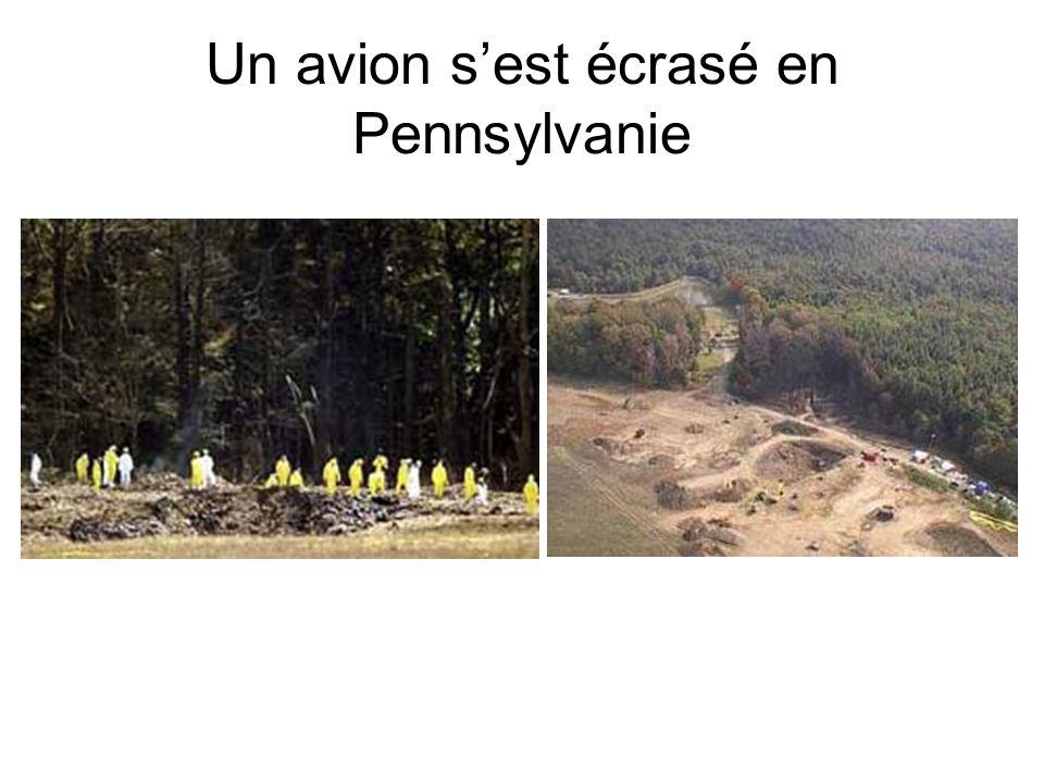 Un avion s'est écrasé en Pennsylvanie