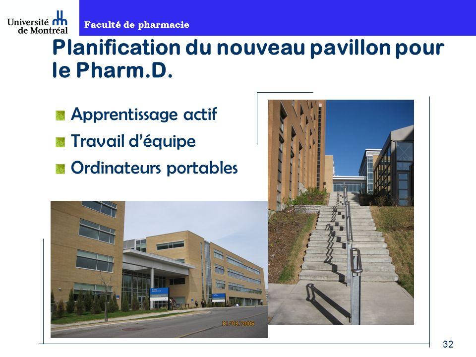 Planification du nouveau pavillon pour le Pharm.D.