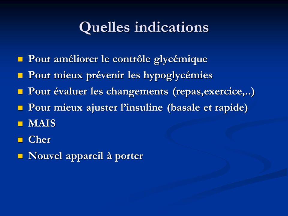 Quelles indications Pour améliorer le contrôle glycémique