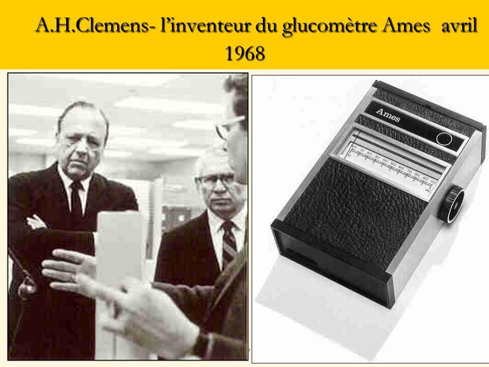 A.H.Clemens- l'inventeur du glucomètre Ames avril 1968