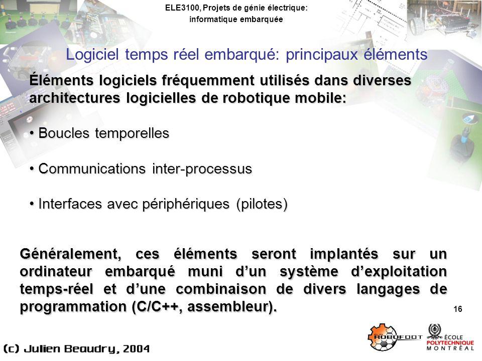 ELE3100, Projets de génie électrique: informatique embarquée