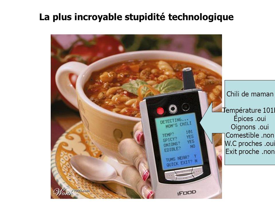 La plus incroyable stupidité technologique