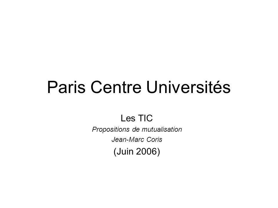 Paris Centre Universités