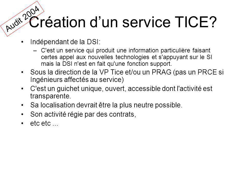 Création d'un service TICE