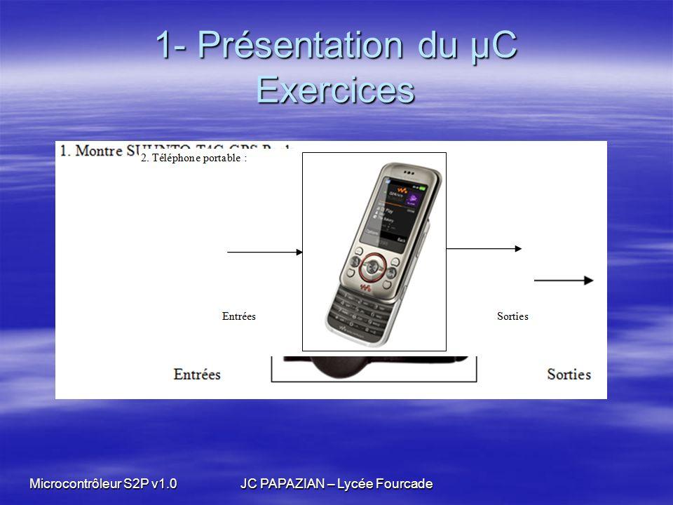 1- Présentation du µC Exercices