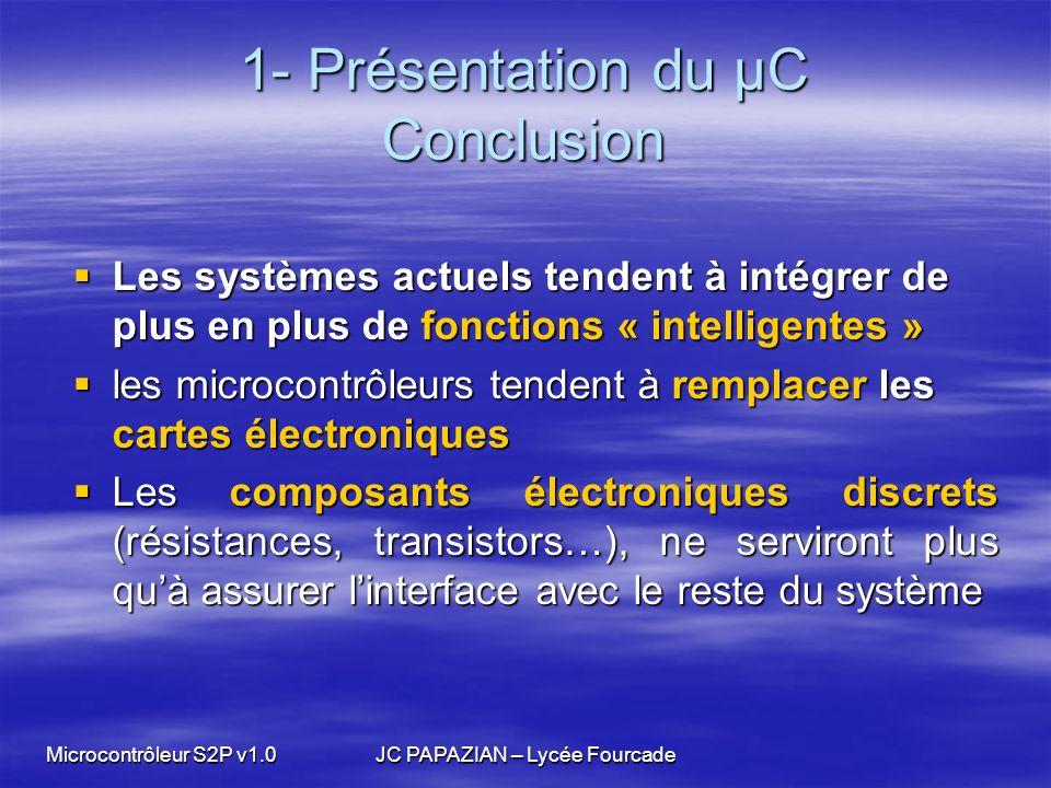 1- Présentation du µC Conclusion