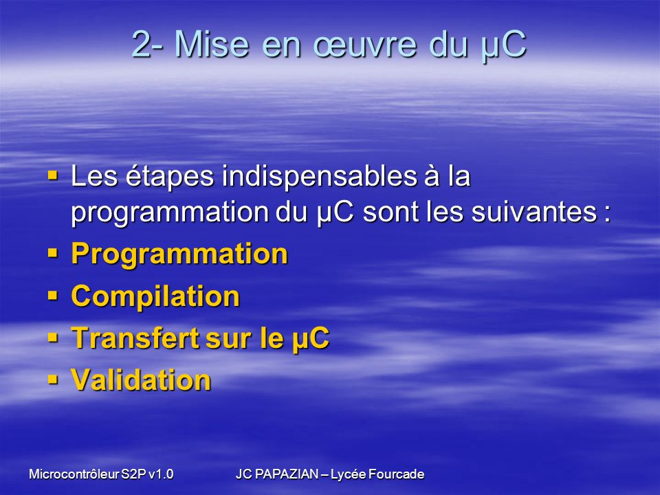 JC PAPAZIAN – Lycée Fourcade