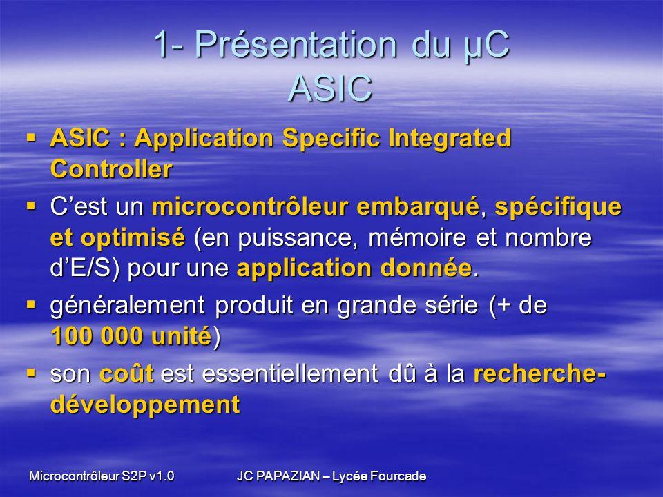 1- Présentation du µC ASIC