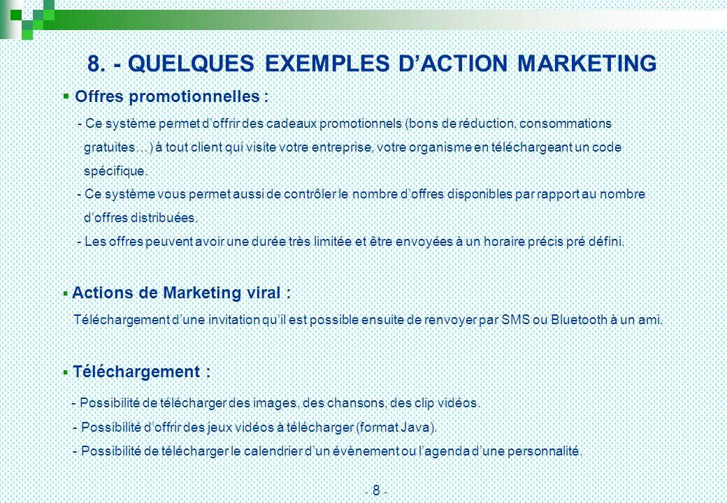 8. - QUELQUES EXEMPLES D'ACTION MARKETING