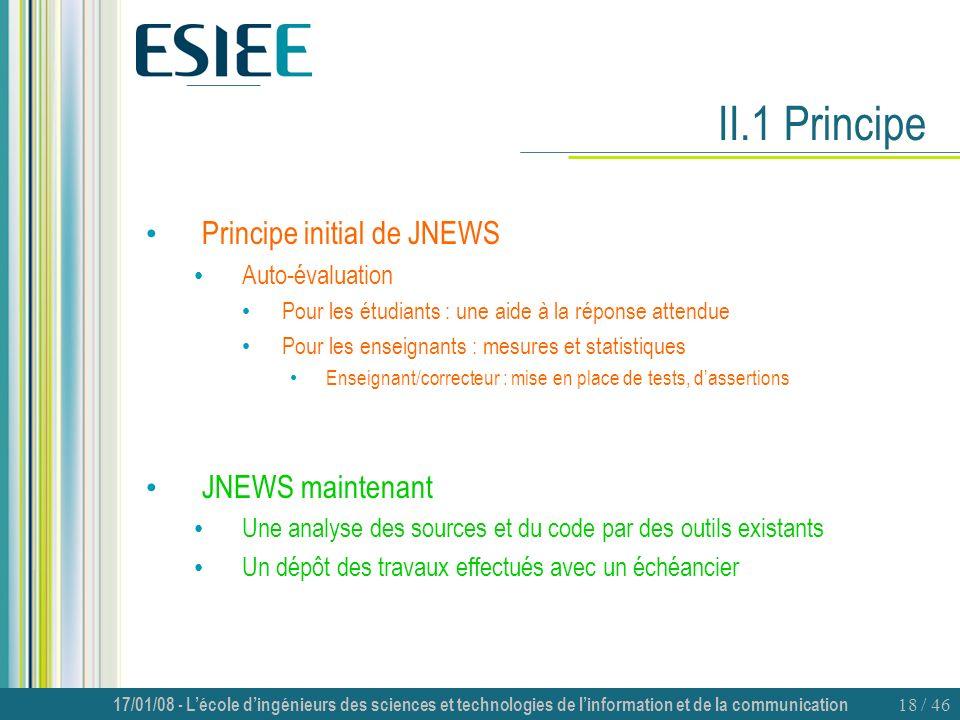 II.1 Principe Principe initial de JNEWS JNEWS maintenant