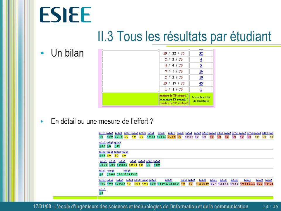 II.3 Tous les résultats par étudiant
