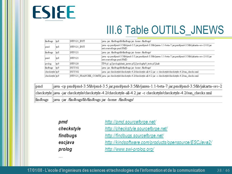III.6 Table OUTILS_JNEWS