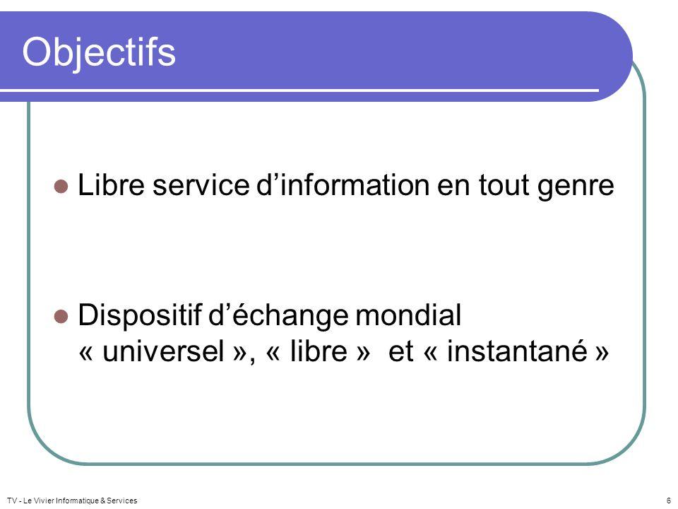 Objectifs Libre service d'information en tout genre