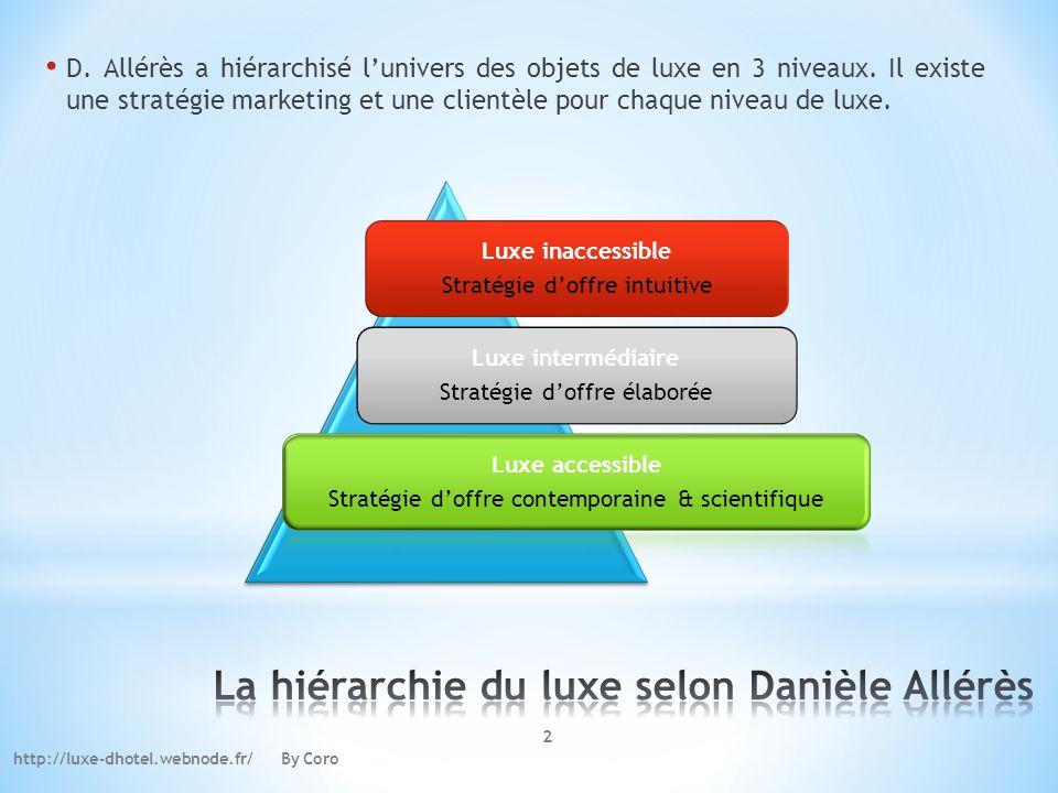 La hiérarchie du luxe selon Danièle Allérès
