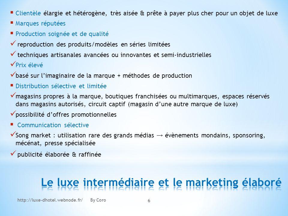 Le luxe intermédiaire et le marketing élaboré