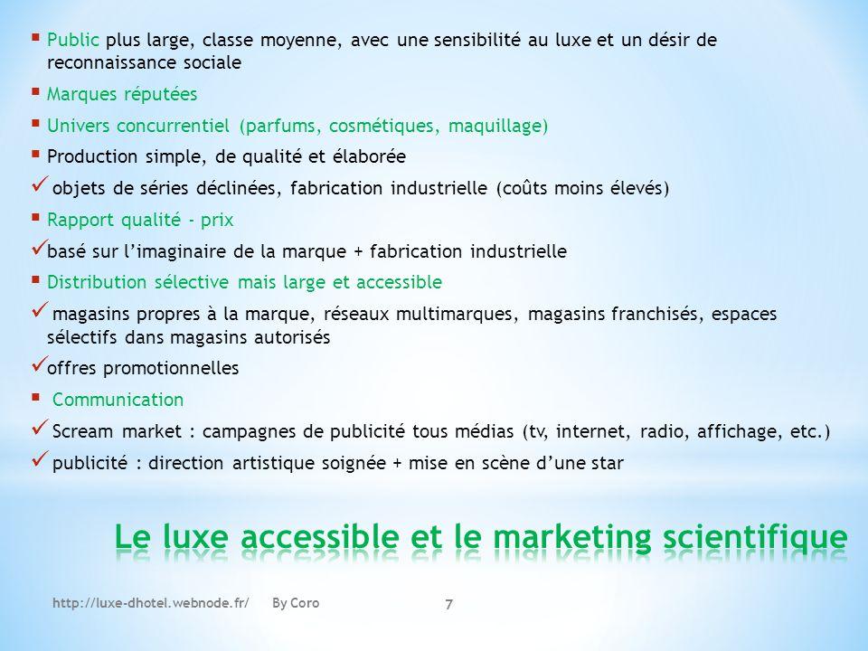 Le luxe accessible et le marketing scientifique