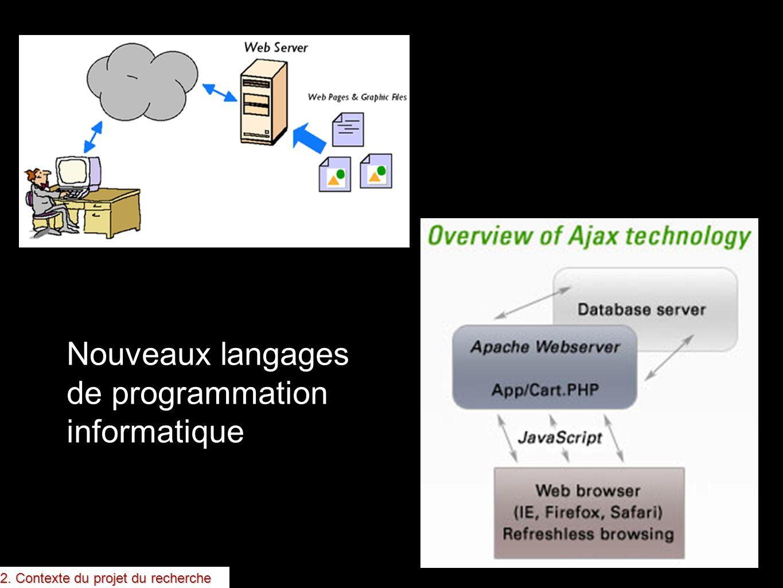 Nouveaux langages de programmation informatique