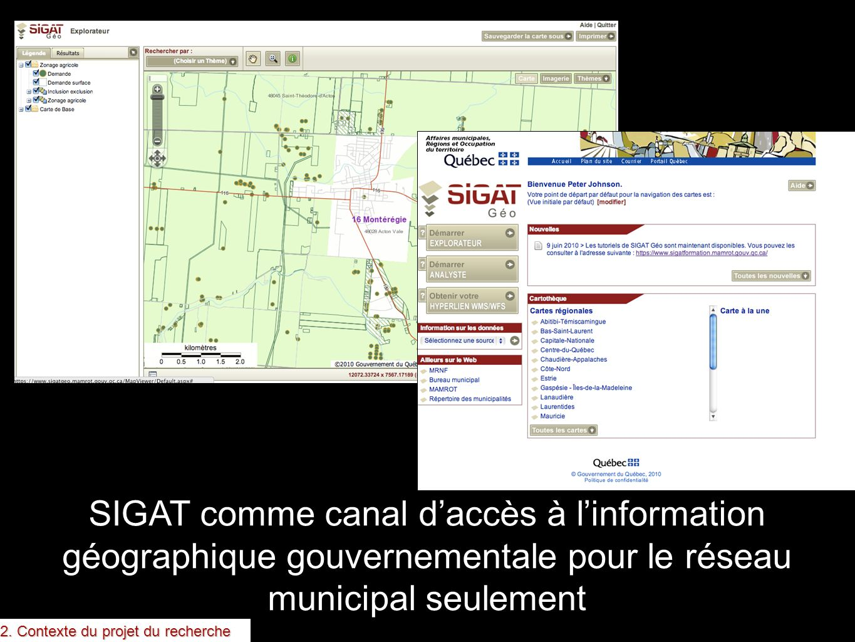 SIGAT est un exemple du gouvernement du Québec (produites par MAMROT)
