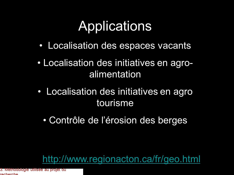 Applications Localisation des espaces vacants