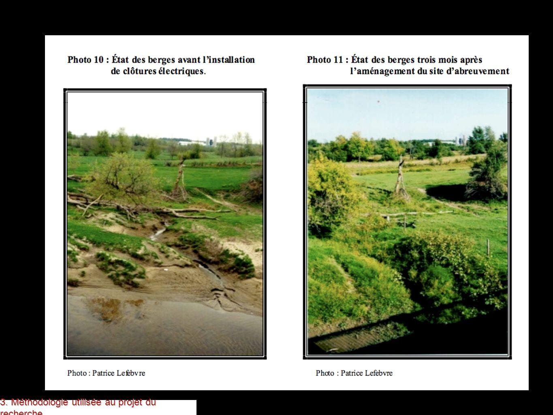 Il s agit d une photo avant et après la réhabilitation des berges