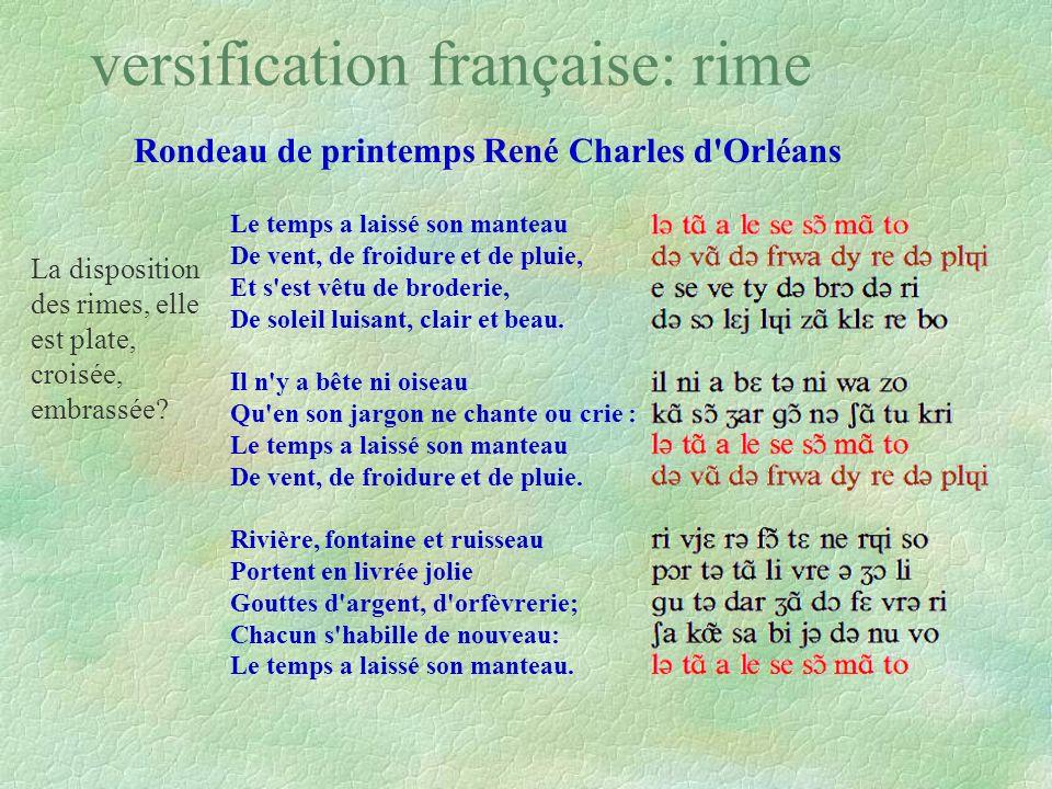 versification française: rime