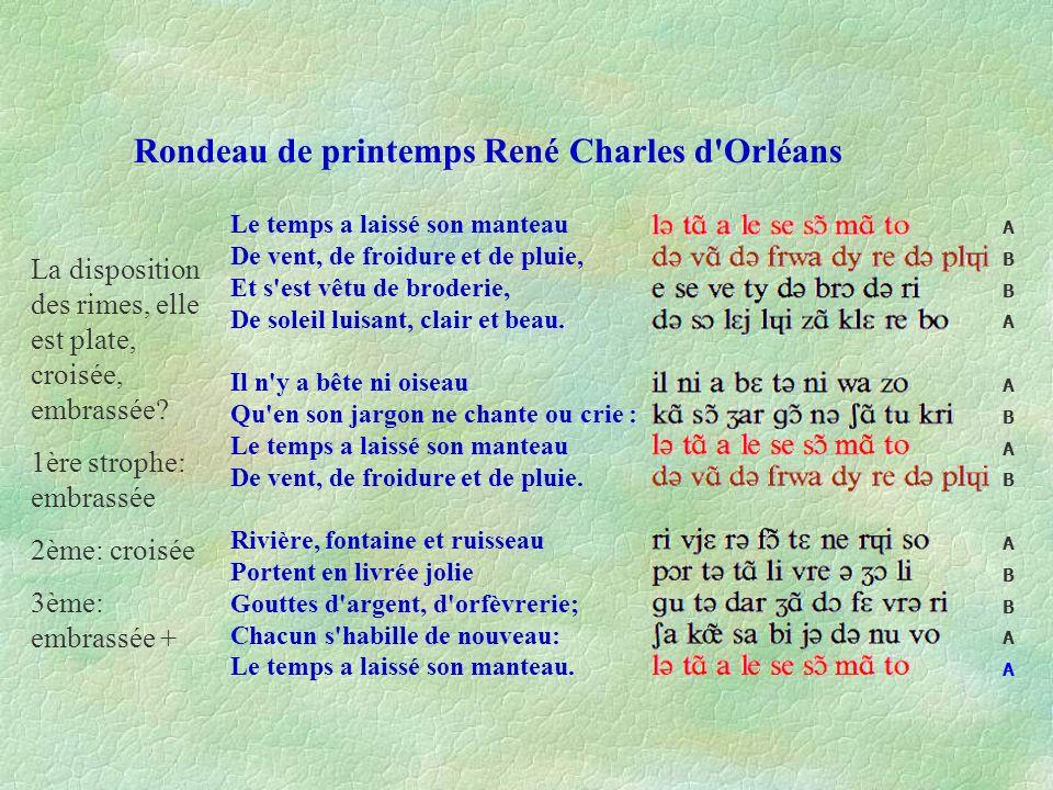 Rondeau de printemps René Charles d Orléans