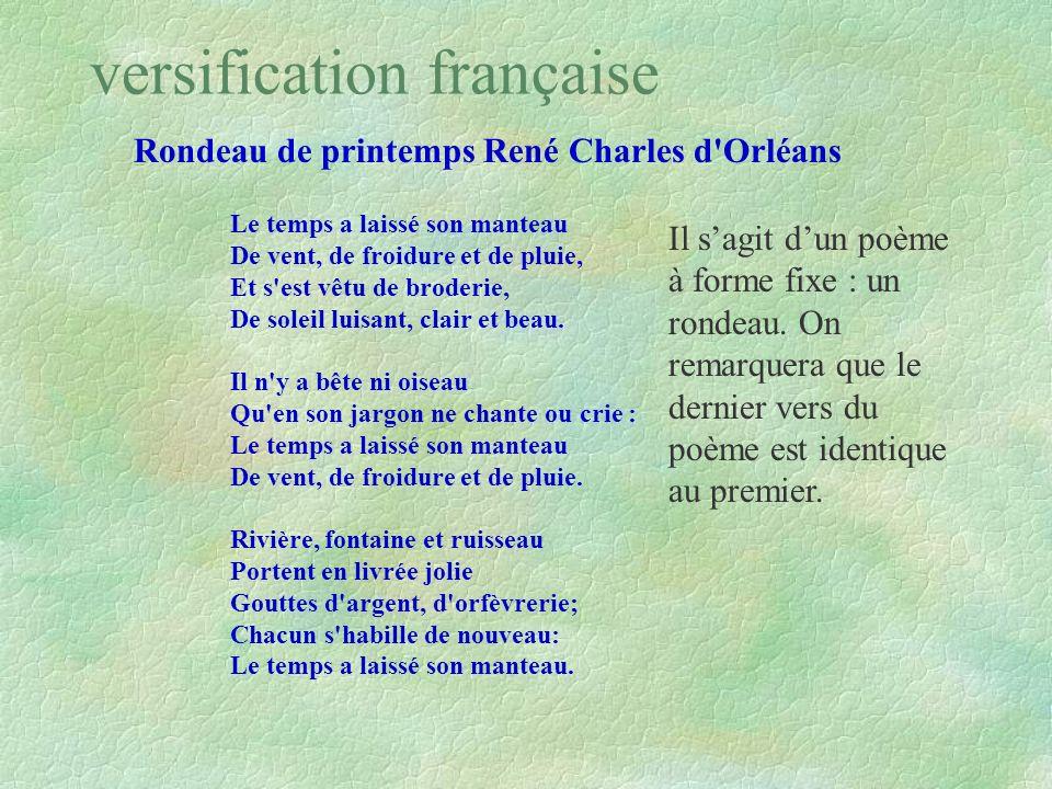 versification française