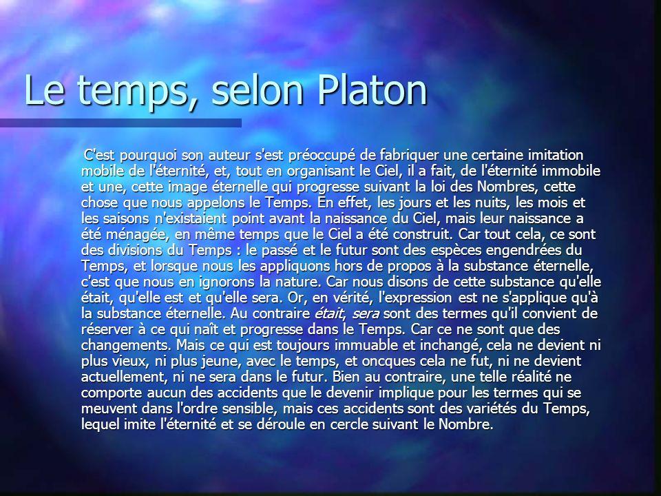 Le temps, selon Platon