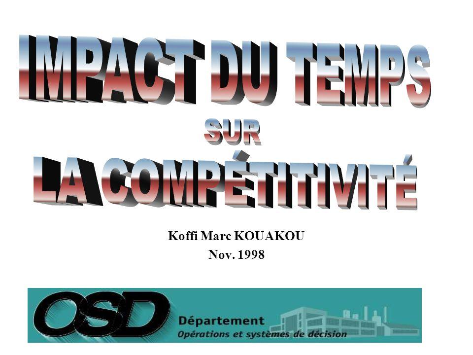 IMPACT DU TEMPS SUR LA COMPÉTITIVITÉ Koffi Marc KOUAKOU Nov. 1998