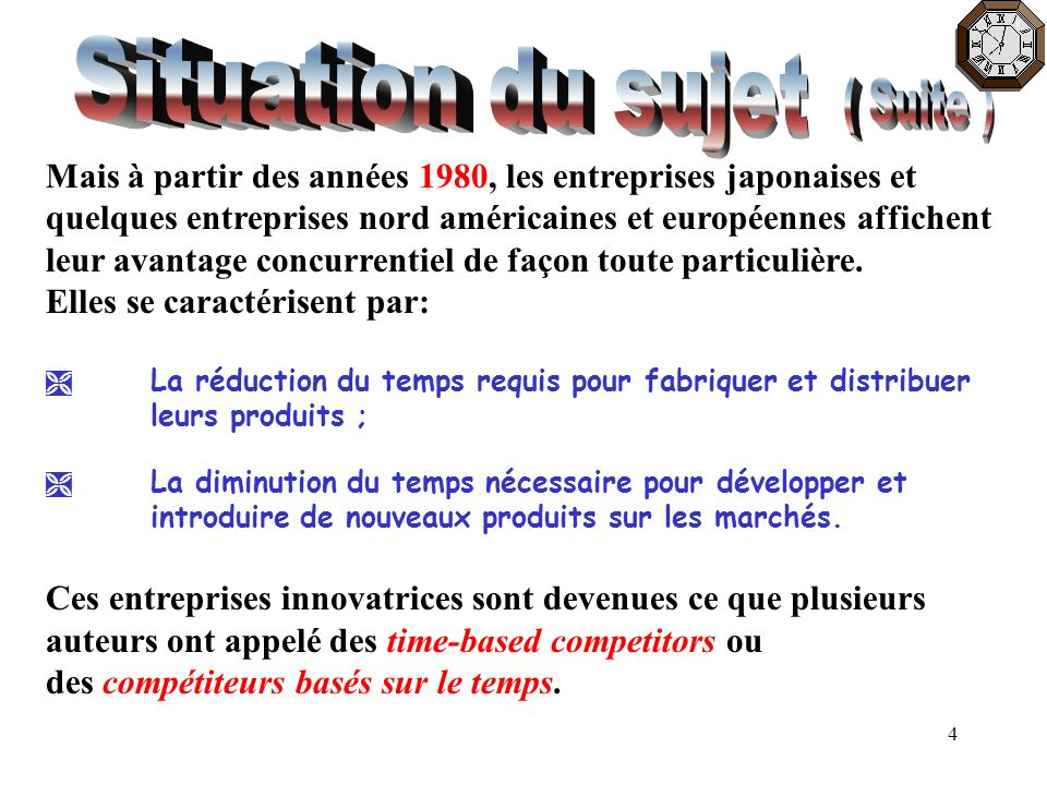 Situation du sujet ( Suite )