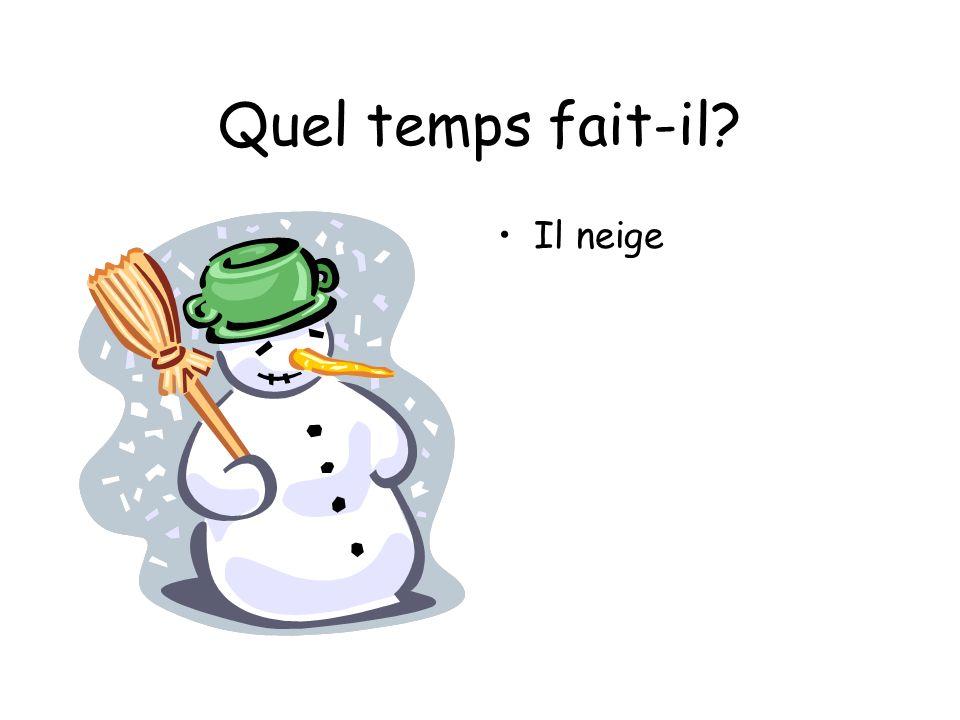 Quel temps fait-il Il neige