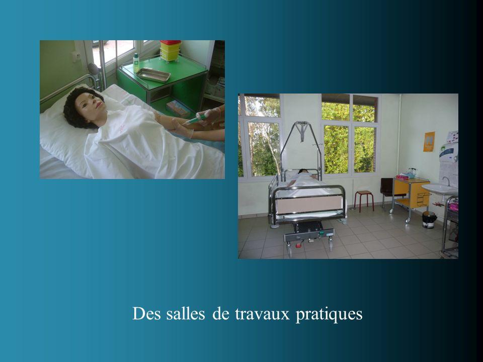 Des salles de travaux pratiques
