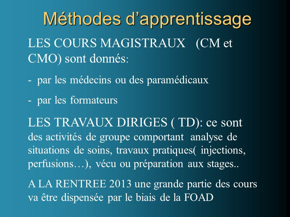 Méthodes d'apprentissage