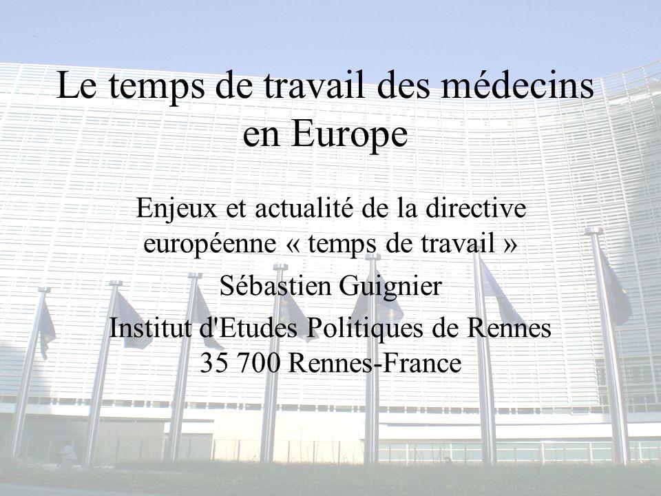 Le temps de travail des médecins en Europe