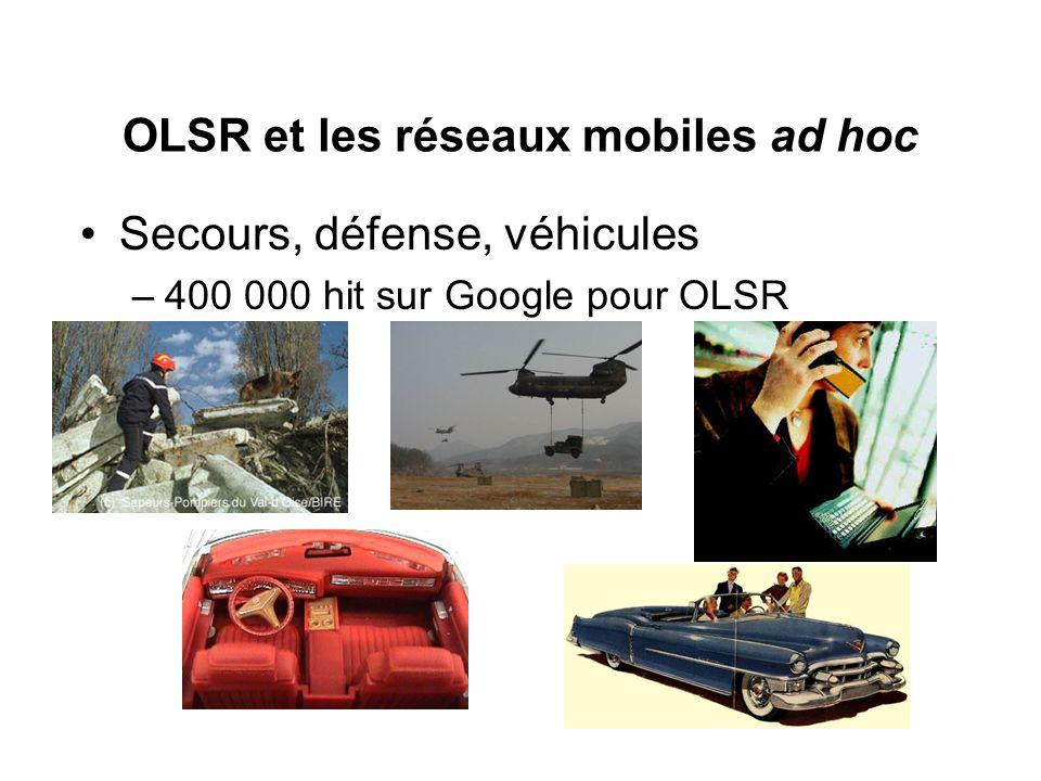 OLSR et les réseaux mobiles ad hoc